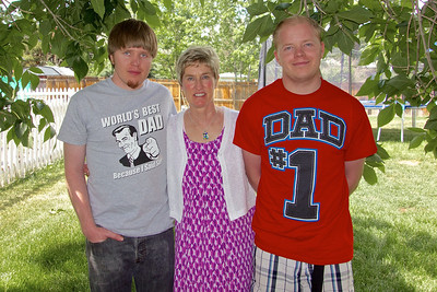 Donna with her Grandsons