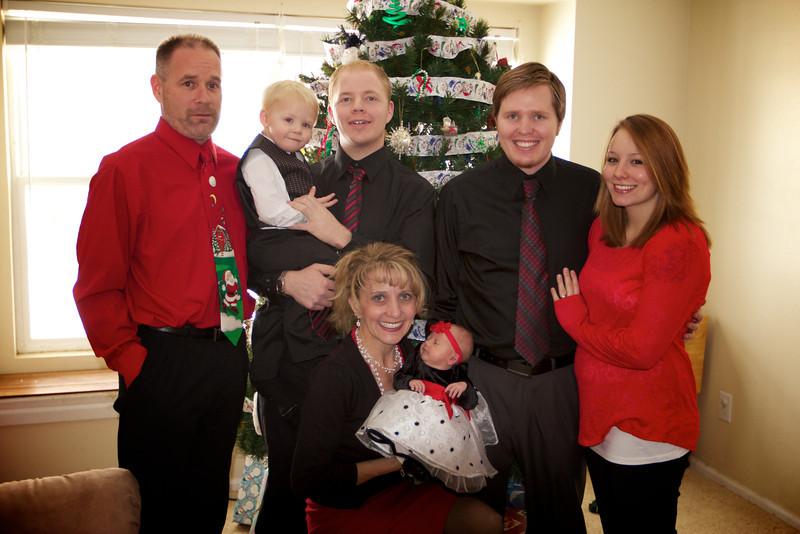 Manson family holiday photo.