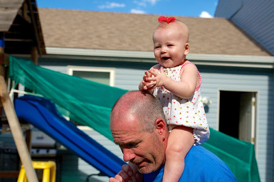 Makenzie Summer 2013, with Grandpa Mark