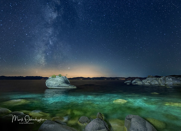 Milky Way Over Bonsai Rock, Lake Tahoe
