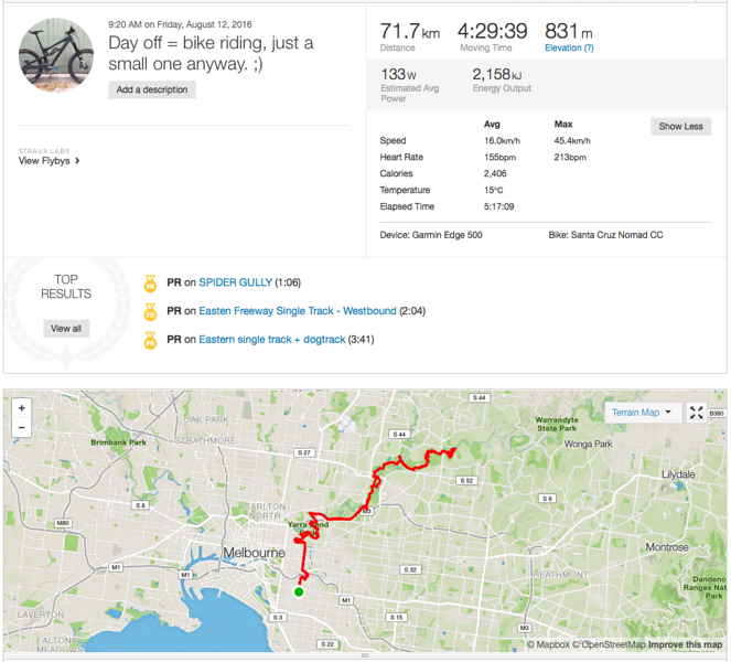 71kms along the yarra