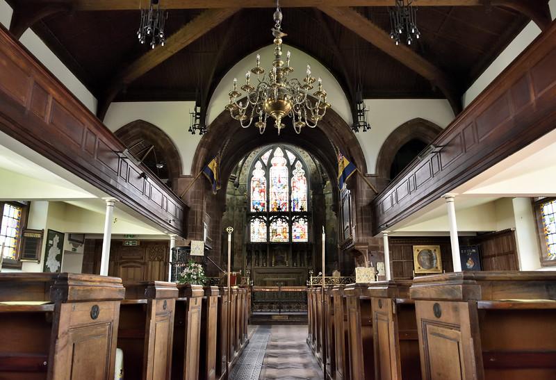 Interior of St.Peter and St.Paul parish church, Wem.