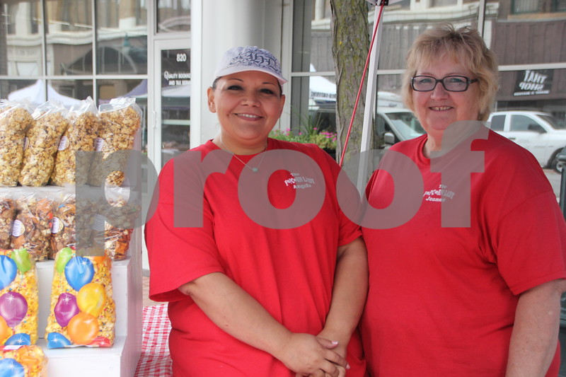 On Saturday, August 27, 2016, Central Avenue in Fort Dodge was a buzz again with Market on Central, which offers plenty of vendors and things to see and do for everyone. Seen here ( left to right)is: Angela Torres and Jeanne Johnson. They were another of many vendors at the event.