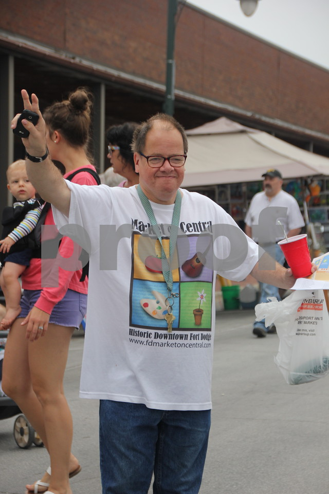 On Saturday, August 27, 2016, Central Avenue in Fort Dodge was a buzz again with Market on Central, which offers plenty of vendors and things to see and do for everyone. Shown: Jay Johnson.