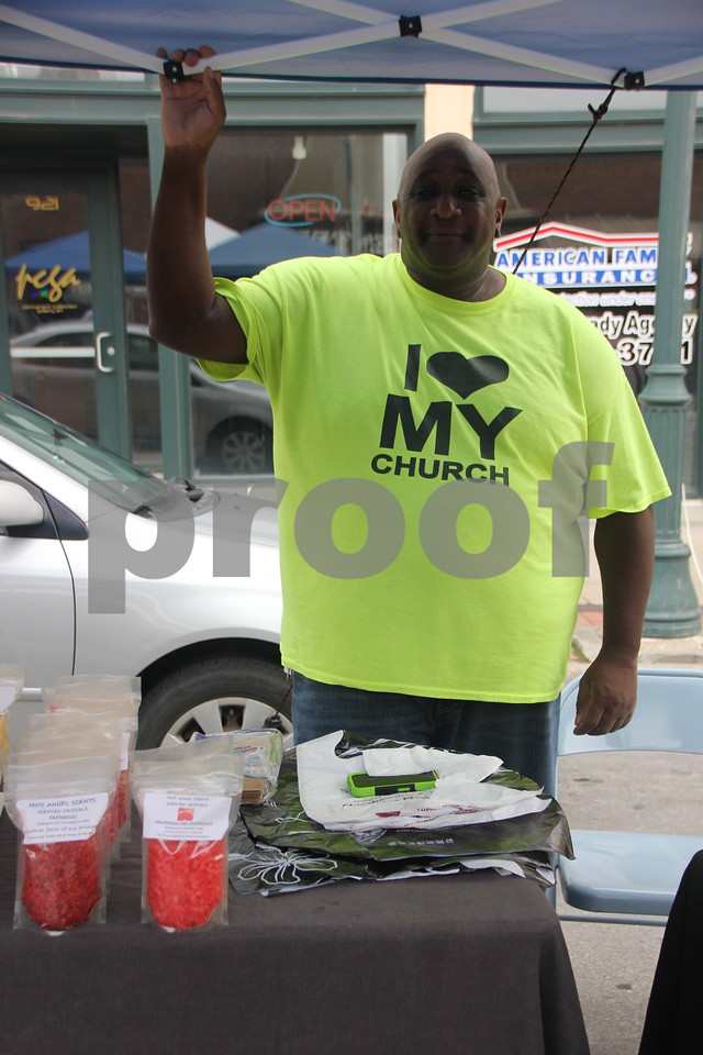 On Saturday, August 27, 2016, Central Avenue in Fort Dodge was a buzz again with Market on Central, which offers plenty of vendors and things to see and do for everyone. Seen here is : Maurice Nurse , one of the vendors at the event.