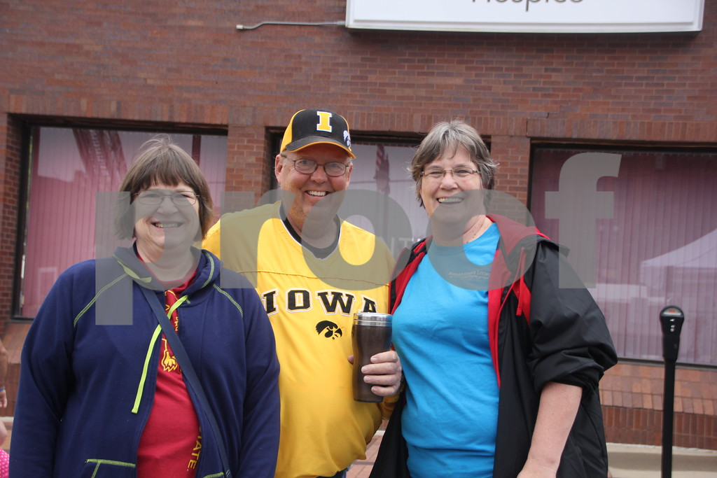 On Saturday, August 27, 2016, Central Avenue in Fort Dodge was a buzz again with Market on Central, which offers plenty of vendors and things to see and do for everyone. Shown (left to right) is: Susan Olson, Ron Hamilton and his wife Linda Hamilton.