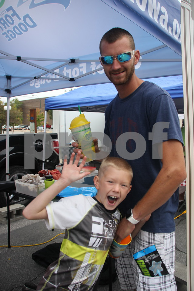 On Saturday, August 27, 2016, Central Avenue in Fort Dodge was a buzz again with Market on Central, which offers plenty of vendors and things to see and do for everyone. Pictured (Top to bottom) is : Wesley Rippentrop and Devyn Rippentrop.