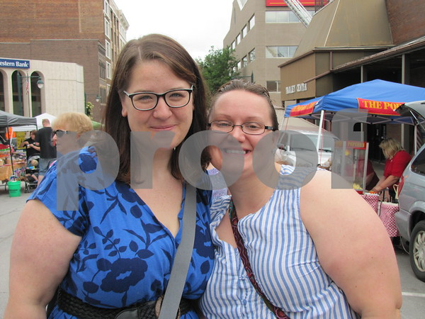 Friends Angela Crosby and Elizabeth Taylor were having fun at Market on Central.