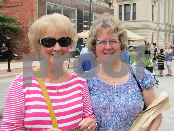Sharon Dolan and Janet Meyne enjoyed the first Market on Central of the year.