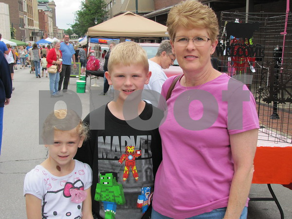 Averie and Jace Hanson with Connie Kahl attended Market on Central.