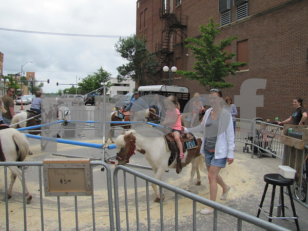 Children enjoyed the pony rides at Market on Central in downtown Fort Dodge.