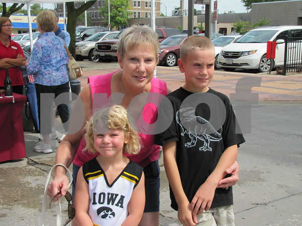 Deb Diemer and her grandchildren Lauren and Paden Boilean were enjoying the market on Central Ave.