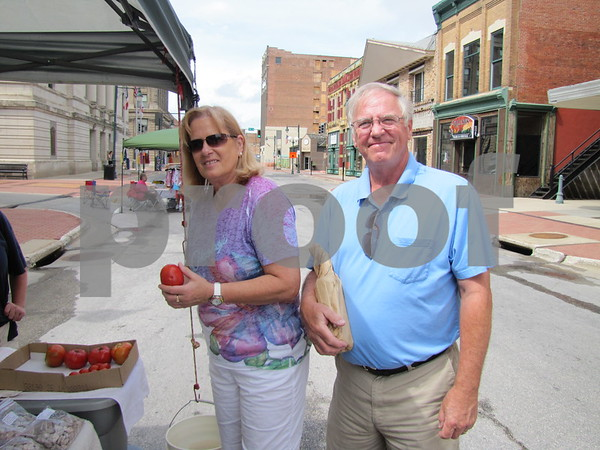 Pat and Mark Essing came from Manson to check out Market on Central in Fort Dodge.