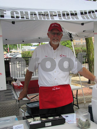 Greg Halverson was ready to serve up hot dogs with all the trimmings.