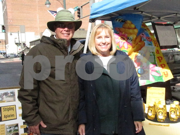 Craig and Carol Stripling of 'Stripling Apiaries' were set up at Market on Central.