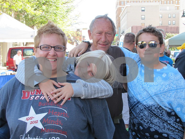 Trish and Alex Dorhn, Duane Bill, and Dartangan Dorhn at Market on Central.