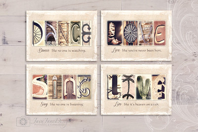 Rustic Letter Designs