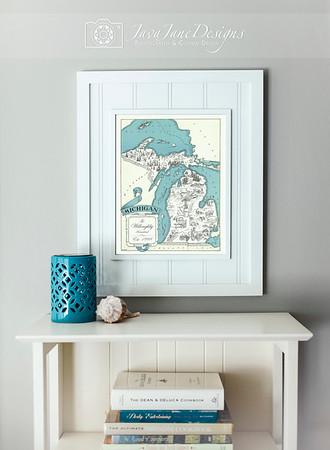 Michigan and Lake Art