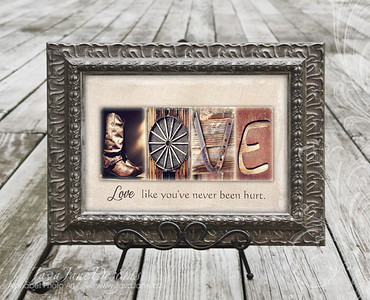 LOVE - Rustic Letters