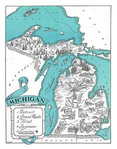 Vintage Michigan Maps