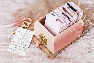Perpetual Calendar & Daily Journal Box - Pink & Gold