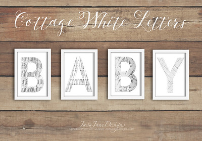 Cottage White Letters