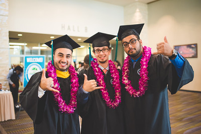 Khalid Al-Ghamdi(left) Zackary Alghamdy and Rakan Al-otaibi gather for a group photo before the Spring 2016 Commencement.  More Photos: https://flic.kr/s/aHskwtWSi2