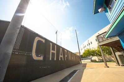 A side view of Chapman Field.
