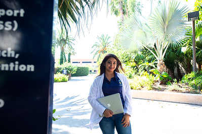 Clarisa Murillo poses for a photo before heading to the Pre-Dental Program.