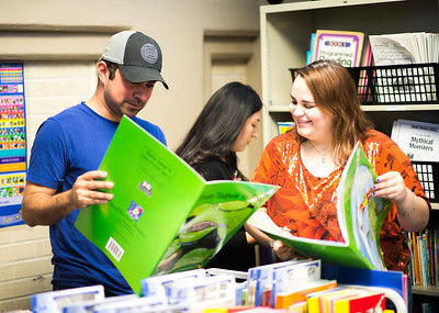 """Thomas Cantu discusses """"Tadpole to Frog"""" at the Curriculum and Instruction Resource Library with Kimberly Gadbemy"""