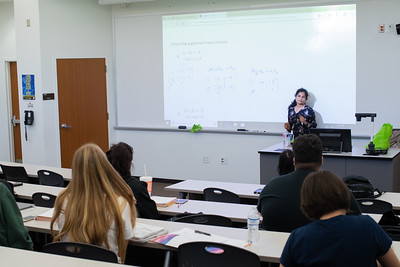 Professor Krishnagiri giving a lecture on College Algebra.