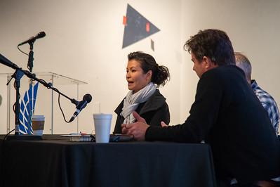 Leticia Bajuyo welcomes visitors to the Islander Art Gallery.