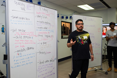 Rudy Salomon pitches his group's idea.
