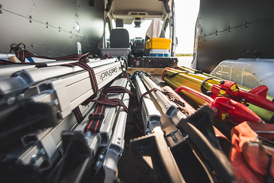 TAMU-CC Conrad Blucher Institute's equipment prior to being installed at Mustang Island.