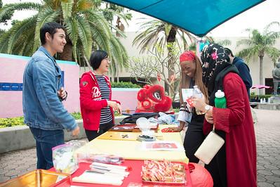ChenJing Liao (left), Tzu-Hua Lee, Lisa Elijah, and Noori Zubair playing a friendly game of GO.