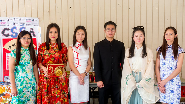 Chinese Student & Scholars Association (CSSA) table in front of library to celebrate the Mid Autumn Festival