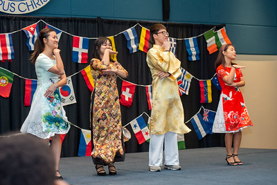 The Vietnamese Student Association performs a dance during ICA's Culture Fest.