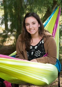 Kaitlyn Bearden relaxes in her hammock in East Lawn between classes.