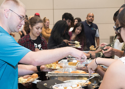 Islander students, faculty, and staff came together to learn about the different cultural equivalents during Friendsgiving at the University Center.