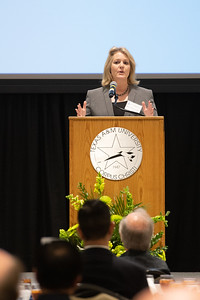 Kelly M. Quintanilla, president and CEO of Texas A&M University-Corpus Christi thanks donors for their gifts towards helping students in the Science and Engineering field. Friday April 6, 2018 during the Friends of Engineering Luncheon at Texas A&M University-Corpus Christi.