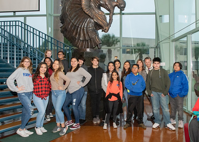 Students from Hamlin Middle School attend the Fall 2018 Distinguished Speaker Series featuring Craig Kielburger, co-founder of the WE Movement, and Spencer West, motivational speaker, social activist and world change warrior.