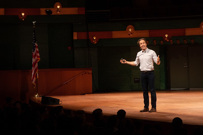 Distinguished Speaker Series featured guest Craig Kielburger, co-founder of the WE Movement. Speaks to an audience of students on October 16, 2018 in the TAMU-CC Performing Arts Center.