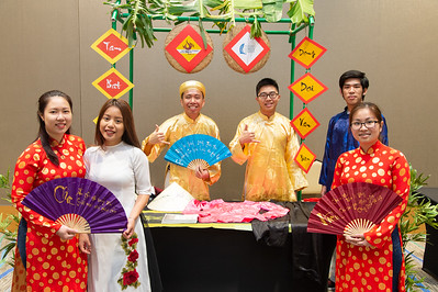 Vietnamese Student Association at the Food Tasting and Cultural Exhibition at the Anchor Ballroom.