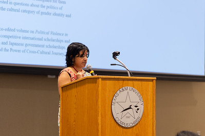 Dr. Zobaida Nasreen speaks at the international speaker event.