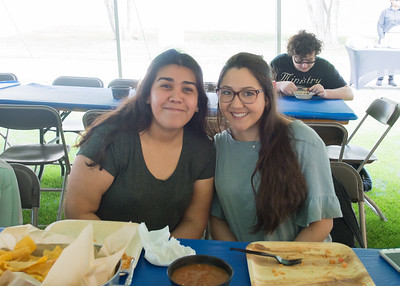 Maria Patron (left) and Danielle Mata at the President's Picnic during Inauguration Weekend on Friday, March 2nd, 2018.