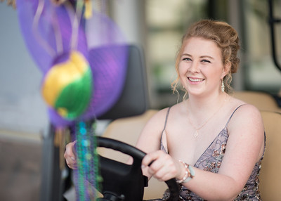 Student Cynthia Perry gets ready to drive guests around the University Center during the President's Ball on March 3rd, 2018 at Texas A&M University - Corpus Christi.