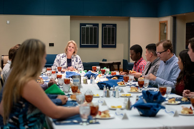 TAMU-CC President Kelly Quintanilla meets with the Student Government Association for lunch.