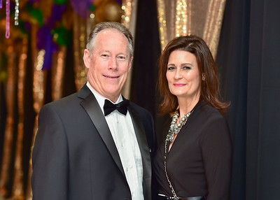 Dean Scott (left) and Karen Scott pose for a photo during President's Ball on March 3rd, 2018 at Texas A&M University - Corpus Christi.