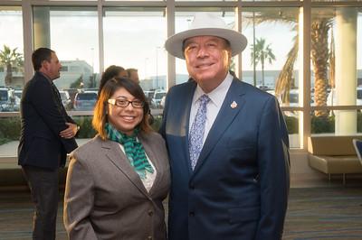 Caryn Garcia (left), and Senator Chuy Hinojosa.