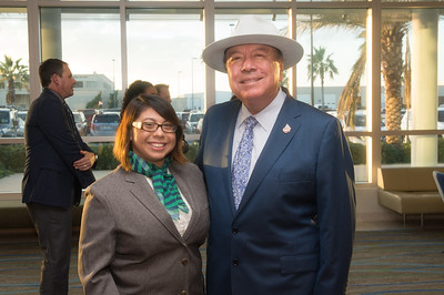 Caryn Garcia (left), and Senator Chuy Hinojosa.